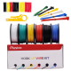 Plusivo PVC Insulated Wire Kit (22AWG, 6 colors, 10m each)