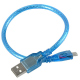30 cm USB AM-B Mini Blue Cable for Arduino Nano