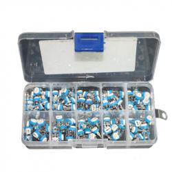 6 mm Mini Trimmer Potentiometer Kit (100 pcs)