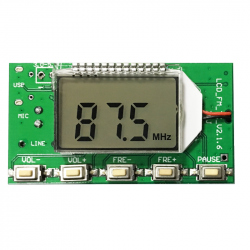 FM Radio Transmitter Module with LCD and USB