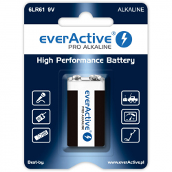 6LR61 Alkaline EverActive Pro 9 V Battery