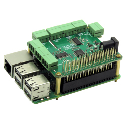 RTD Data Acquisition 8-Layer Stackable Card for Raspberry Pi