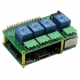 4 Relays 10A/240V 8-Layer Stackable Card for Raspberry Pi