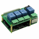 Sequent Microsystems 4 Relays 10A/240V 8-Layer Stackable Card for Raspberry Pi
