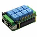 Sequent Microsystems 8 Relays 8-Layer Stackable Card for Raspberry Pi