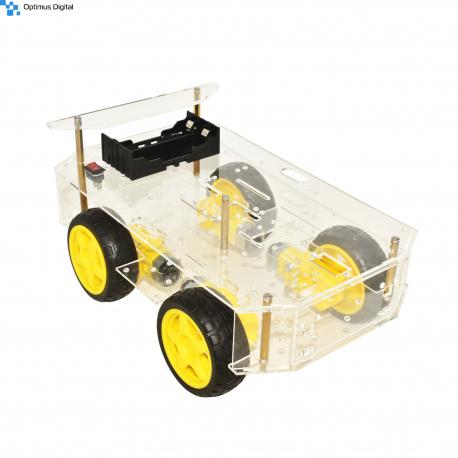 4 Motors Robot Kit (Transparent)