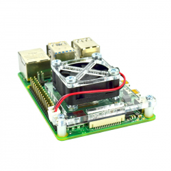 Raspberry Pi 4 Fan Mounting Bracket (Transparent)