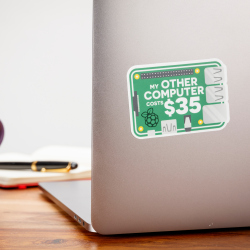 """""""My other computer Costs $35"""" Sticker (3"""" x 2.1"""")"""
