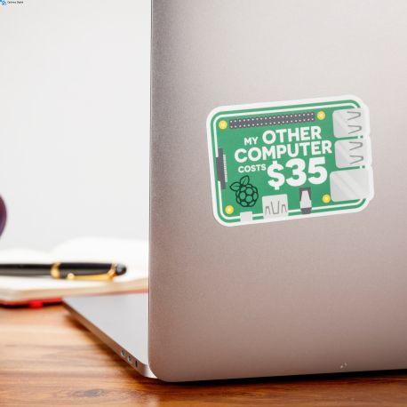"""My other computer Costs $35"" Sticker (3"" x 2.1"")"