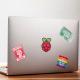 "Abțibild Logo Raspberry Pi Curcubeu (1.97"" x 1.97"")"