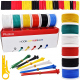 Plusivo Silicone Wire Kit (18AWG, 6 colors, 5m each)