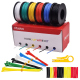 Plusivo PVC Insulated Wire Kit (24AWG, 6 colors, 11m each)