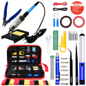 Plusivo Soldering Iron Kit for Electronics with Diagonal Cutter - EU Plug