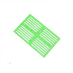 Drilled Plastic Panel - Green