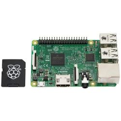Raspberry Pi 3 Model B and 16GB MicroSD Card with NOOBs