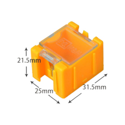 Orange Storage Box for Electronic Components 25x31.5x21.5 mm