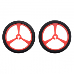 Wheel 40×7mm Pair - Red