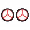 Wheel 40×7mm Pair - Red