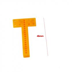 Drilled T Plastic Bar