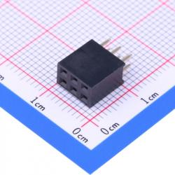 2 x 3p Female Pin Header 2.54 mm