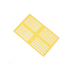 Drilled Plastic Panel - Yellow