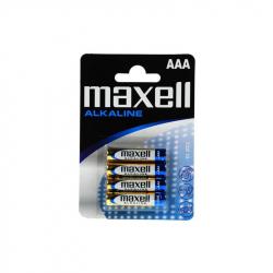 Set of 4 LR03 / AAA Maxell Alkaline Batteries