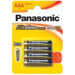 Set of 4 LR03 / AAA Panasonic Alkaline Batteries