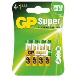 Set of 5 Super Alkaline GP LR03 / AAA Batteries