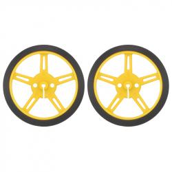 Wheel 60×8mm Pair - Yellow