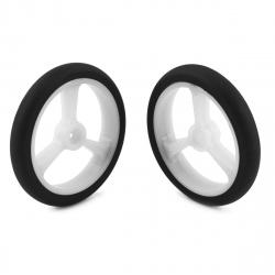 Pololu Wheel for Micro Servo Splines (20T, 4.8mm) - 40×7mm, White, 2-Pack