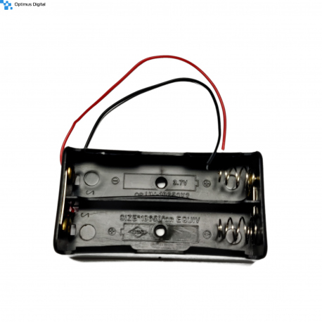 2 x 18650 Battery Case, parallel connection