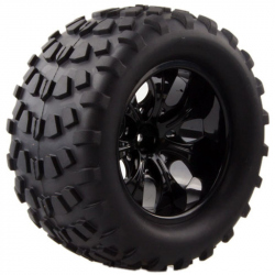 Set of 4 Black Wheels