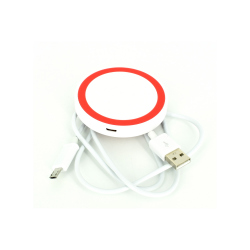 White and Red Wireless charger