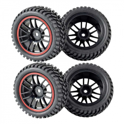 Set of 4 Black Wheels (strong grip)