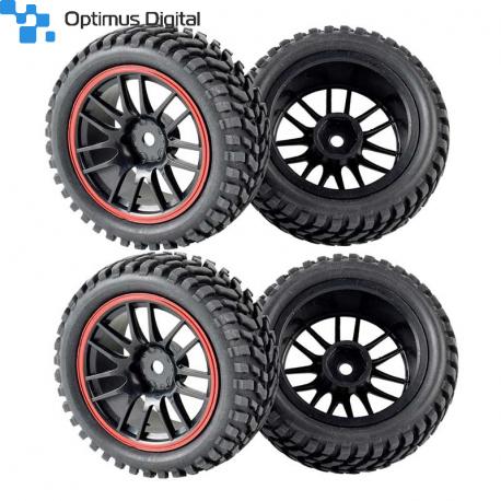 Set of 4 Black Wheels (strong grip)