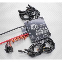 ESC Q Brain 4 x 20A 2S - 4S with SBEC 3A for Quadcopter