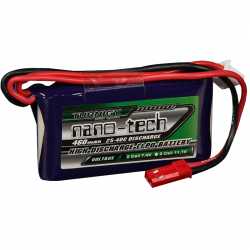 LiPo Turnigy Nano-Tech 460 mAh 2S 25~40C Battery (7.4 V)