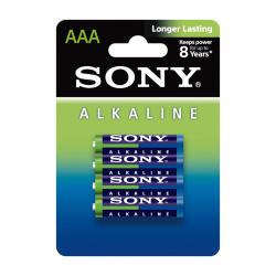 Set of 4 Sony LR03 (AM4L-B4D) Alkaline Batteries