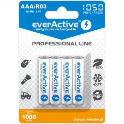 Ni-MH R03 / AAA 1050 mAh EverActive Set 4 Batteries