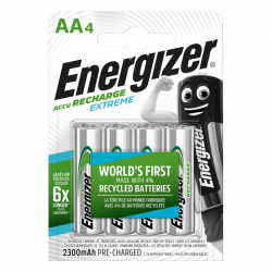 Pack of 4 R6 2300 mAh Energizer Extreme HR6 Battery