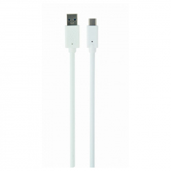 USB 3.0 AM to Type-C Cable (AM/CM), 1 m, White