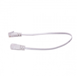 UTP Flat Cable, CAT6, White, 3 m