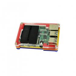 Multicolored Case with Black Mini Breadboard for Raspberry Pi 4