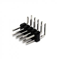 2 x 5p 2.54 mm 90° Male Pin Header