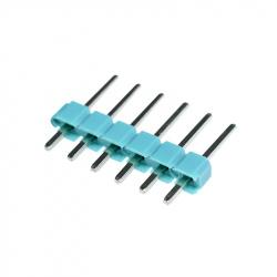 6p 2.54 mm Male Pin Header (Green)
