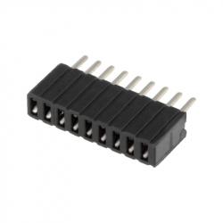 9p 1.27 mm Female Pin Header