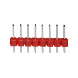 8p 2.54 mm Male Pin Header (Red)