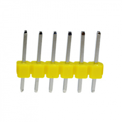 6p 2.54 mm Male Pin Header (Yellow)