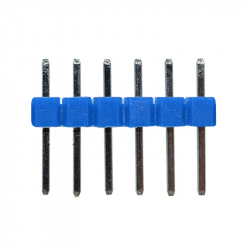 6p 2.54 mm Male Pin Header (Blue)