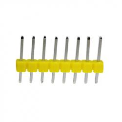 8p 2.54 mm Male Pin Header (Yellow)